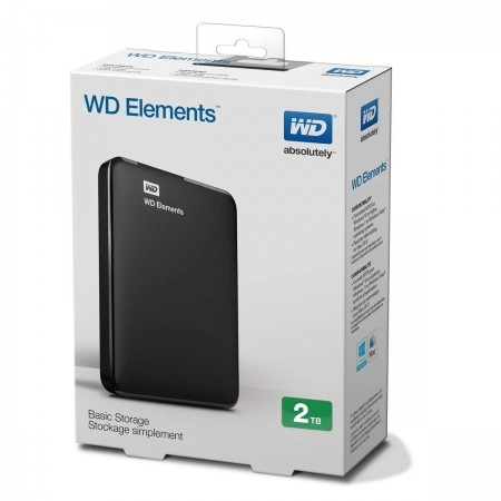 "WD 2TB External HDD Elements Portable 2.5"" USB 3.0"