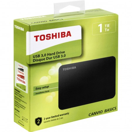 "Toshiba Canvio Basics 2.5"" 1TB USB 3.0 ext HDD"