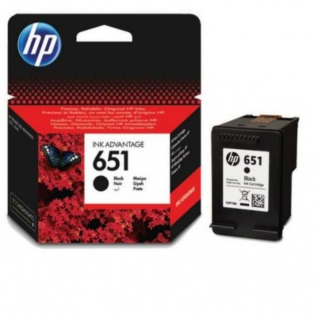 HP Cartridge C2P10AE No.651 Black