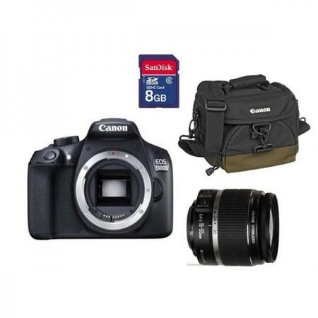 Digitalni fotoaparat CANON 1300D EFS18-55DC KIT (torbica+kartica 8GB)