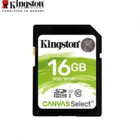 Kingston SDHC Canvas SD Memory Card 16GB Class10