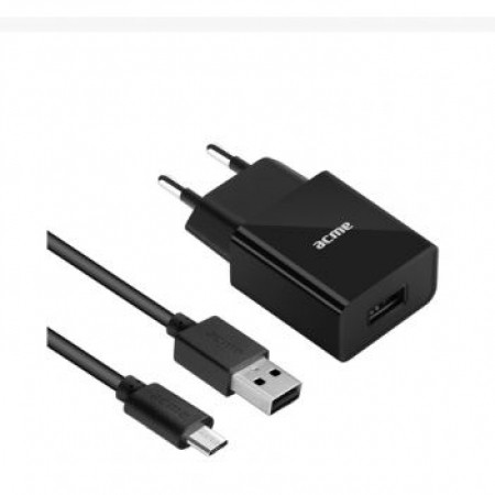 ACME CH211 1-port USB wall charger 2.4A + Micro USB cable