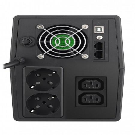 Mustek PowerMust 1500 LCD Line Int. UPS, IEC / Schuko