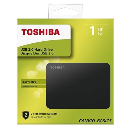 "Toshiba Canvio Basics 2.5"" 1TB USB 3.0 ext HDD"