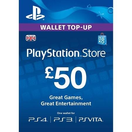 PSN UK dopuna kredita 50 GBP /Digital Code