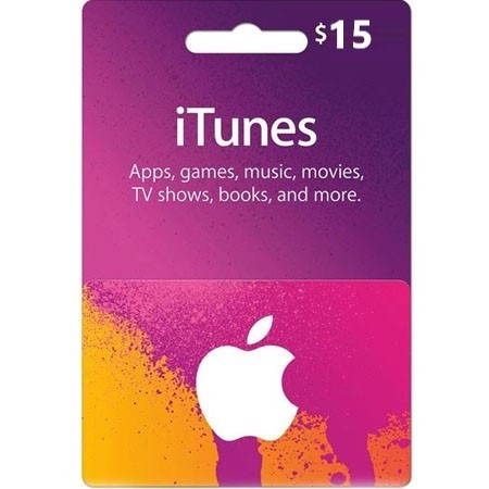 iTunes dopuna kredita 15 USD /Digital Code
