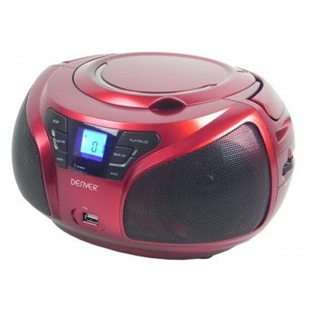 Denver CD MP3 Radio Player TCU-206 T1 Red