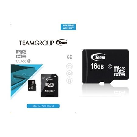 Team MicroSD Memory Card 16GB Class10