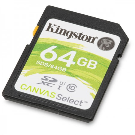 Kingston SD Canvas Memory Card 64GB Class10