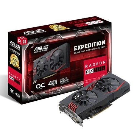 ASUS Expedition AMD Radeon RX570 OC 4GB