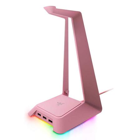 Razer Headphone Stand Quartz + USB Hub Chroma RGB