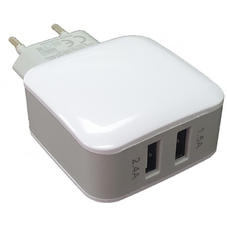 Dual USB Quick Wall Charger 2.4A