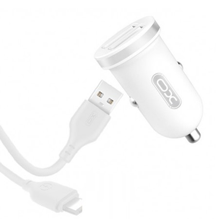 XO TZ08 Car charger + Lightning Cable 1m