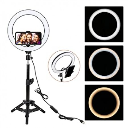 """LED Ring Lamp 18"""" with stand"""