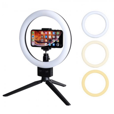 "LED Ring Lamp 12"" with stand"