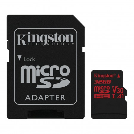 Kingston MicroSD Canvas React Memory Card 32GB Class10 UHS-I V30