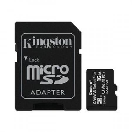 Kingston MicroSD Canvas Select Plus Memory Card 16GB Class10