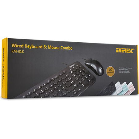 Everest Tastatura+Miš USB KM-01K