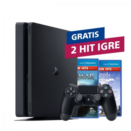 Konzola Playstation 4 500GB Slim F Chassis + 2 HIT naslova po izboru