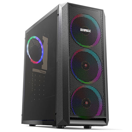 Everest X-MESH Rainbow LED Case Black