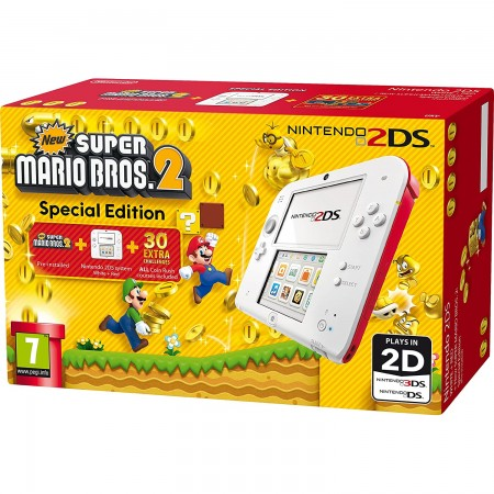 Konzola Nintendo 2DS - White and Red + New Super Mario Bros 2 Special Edition