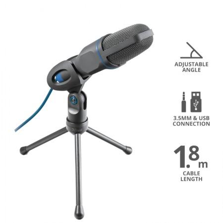 Trust Mico Mikrofon 3.5mm/USB