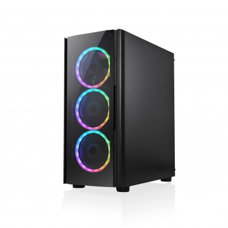 UBIT Gaming Case + 3 RGB Fans UB-192-11