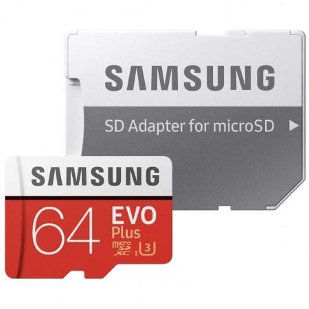Samsung Evo Plus microSD Memory card 64GB + SD adapter