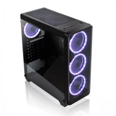 UBIT Gaming Case + 4 RGB Fans UB-M01