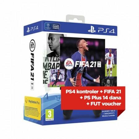 Playstation 4 Dualshock 4 kontroler V2 + FIFA 21 VCH + FUT VCH + PS 14 dana