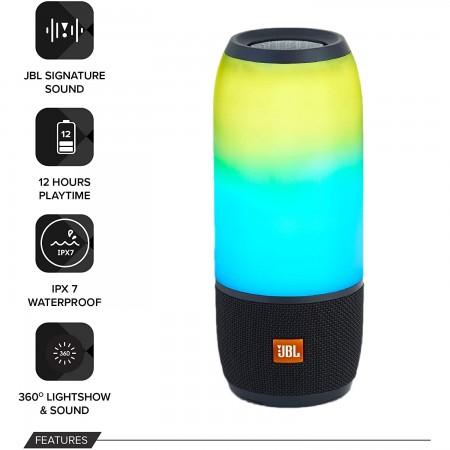 JBL Pulse 3 Bluetooth Zvučnik Black