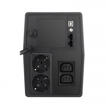 Mustek PowerMust 1000 LCD Line Interactive., IEC / Schuko