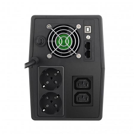 Mustek PowerMust 2000 LCD Line Interactive, IEC / Schuko
