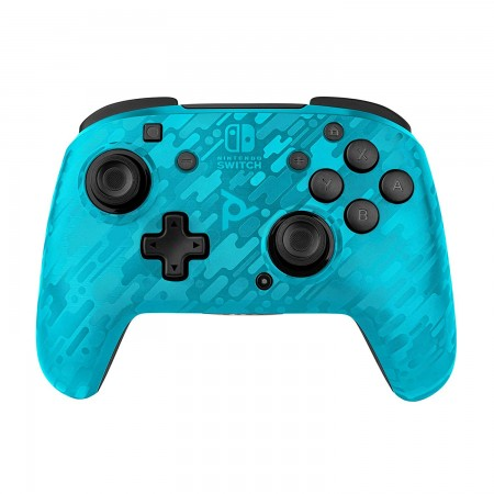 PDP Nintendo Switch Faceoff Wireless Controller Camo Blue