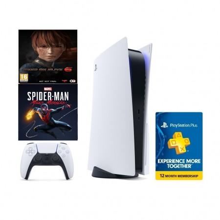Konzola Playstation 5 Bundle PS Plus 12 Mjeseci + Marvels Spider-Man: Miles Morales + Left Alive Day