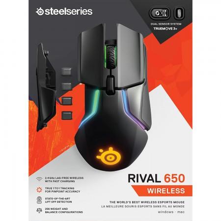 SteelSeries Miš Rival 650 Wireless RGB