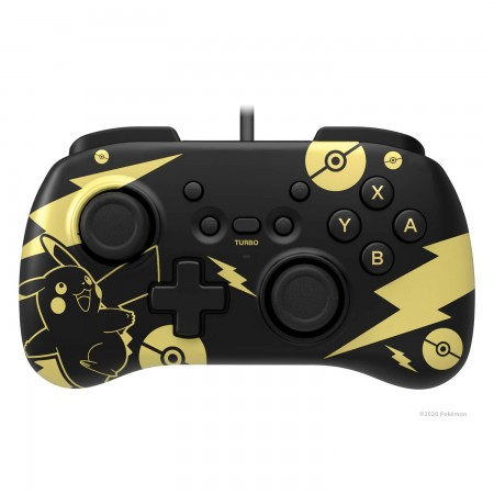 HoriPad Mini for Nintendo Switch Wired Controller Pikachu Black Gold Edition