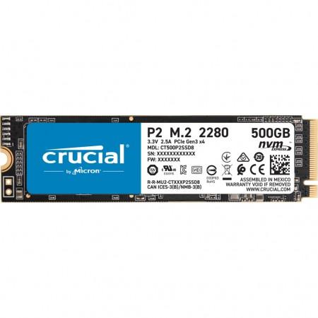 Crucial SSD 500GB P2 M.2 NVMe