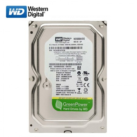WD 500GB SATA2 HDD Green