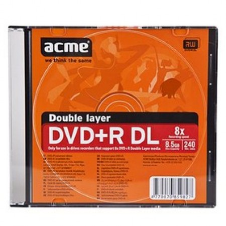 ACME DVD+R Double Layer 8.5GB Slim Box