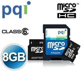 PQI Micro SDHC Memory Card 8GB Class 4